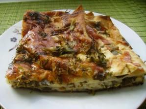Пирог из лаваша с грибами - фото шаг 4
