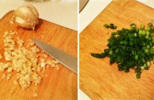 Салат с киноа, шпинатом и грибами - фото шаг 3