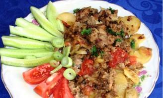 Жареная картошка с фаршем - фото шаг 5