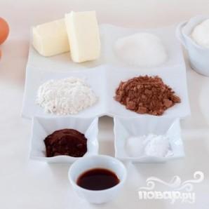 Новогодние шоколадные капкейки - фото шаг 1
