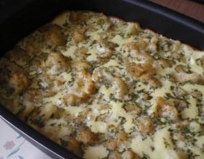 Омлет с цветной капустой в духовке - фото шаг 5