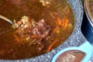 Пряный суп с чечевицей и рисом - фото шаг 5