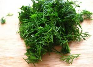 Крабовый салат с фасолью - фото шаг 5