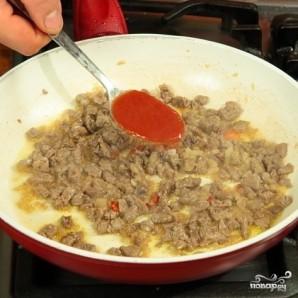 Лук-порей с мясом - фото шаг 3