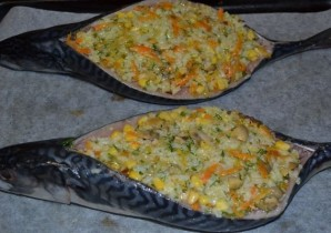 Рыба, запеченная с рисом - фото шаг 11