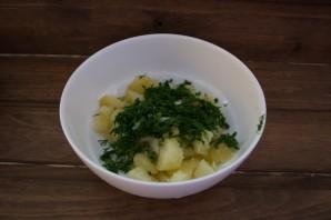 Диетический салат с консервированным тунцом - фото шаг 2