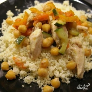 Нут с курицей и овощами - фото шаг 9