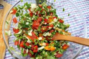 Салат с запеченными овощами - фото шаг 9