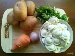 Бабушкин суп с пельменями - фото шаг 1