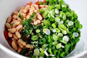 Салат с белой фасолью - фото шаг 5