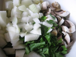 Блинчики из кабачков с грибами - фото шаг 1