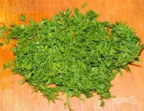 Салат из белой фасоли консервированной - фото шаг 3