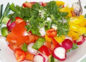 Овощной салат на скорую руку - фото шаг 6