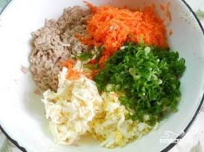 Салат с печенью минтая - фото шаг 2