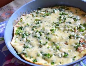 Омлет с фаршем на сковороде   - фото шаг 7