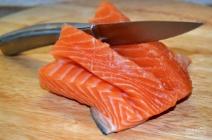 Жареная красная рыбка - фото шаг 1