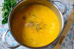 Сырный суп с лососем и рисом - фото шаг 5