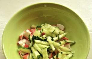Салат с королевскими креветками - фото шаг 1