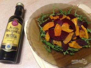 Салат с запеченными тыквой и свеклой - фото шаг 6