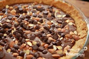 Пирог с шоколадной начинкой и зефирным наполнением - фото шаг 4