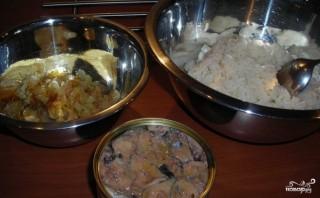 Заливной пирог с сайрой и рисом - фото шаг 4