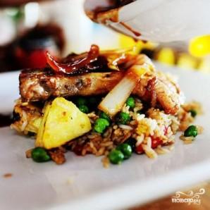 Свинина с рисом и ананасом - фото шаг 8