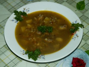 Суп с печенью - фото шаг 13