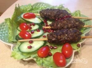 Люля-кебаб с пшеном и орехами - фото шаг 7