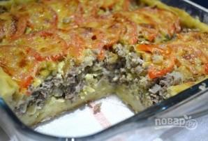 Открытый мясной пирог с картофельным тестом - фото шаг 18