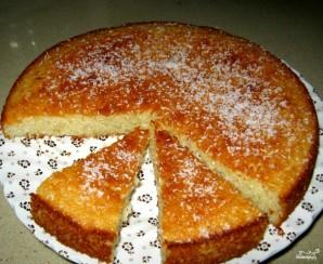 Постный бисквит на манке - фото шаг 5