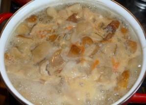 Суп из белых грибов с сыром - фото шаг 4