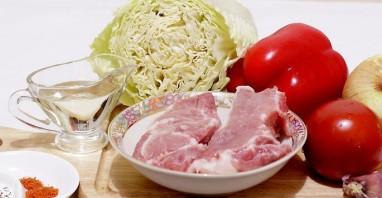Жареная свинина с овощами - фото шаг 1