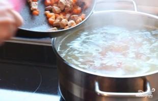 Сливочный суп со свининой - фото шаг 4