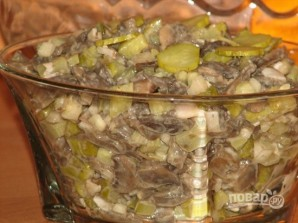 Салат из жареных шампиньонов - фото шаг 8