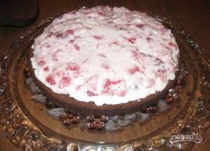 "Торт ""Клубника и шоколад"" - фото шаг 3"