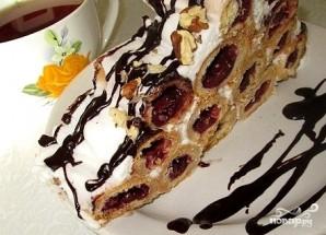 """Торт """"Изба"""" с вишней - фото шаг 10"""