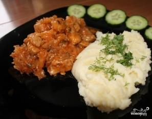 Картофельное пюре со свининой - фото шаг 6