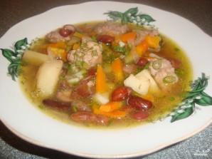 Фасолевый суп в скороварке - фото шаг 7
