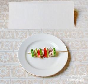 Рыбная закуска на шпажках - фото шаг 4