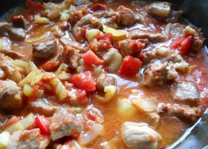 Свинина с баклажанами и помидорами - фото шаг 4