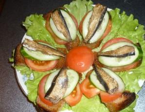 Жареные бутерброды со шпротами - фото шаг 3