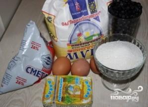 Пирог с черникой и сметаной - фото шаг 1