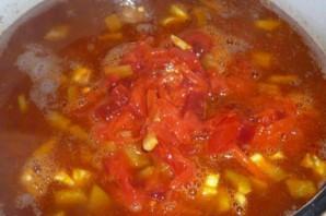 Борщ вегетарианский с фасолью - фото шаг 6