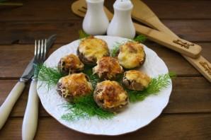 Начиненные грибы в духовке - фото шаг 7