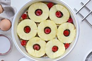 Перевёрнутый ананасовый кекс - фото шаг 3