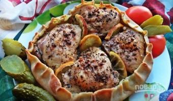 Курица, запечённая в съедобной тарелке - фото шаг 6