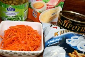 Корейская морковка с сухариками - фото шаг 1