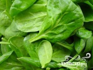 Салат из шпината на гриле - фото шаг 2