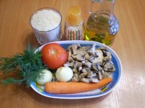 Овощной плов с грибами - фото шаг 1