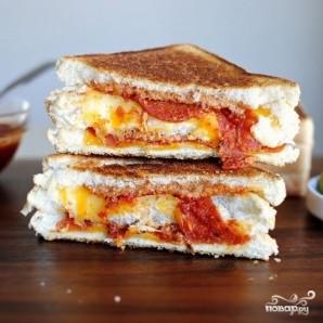 Горячие пицца-бутерброды - фото шаг 5